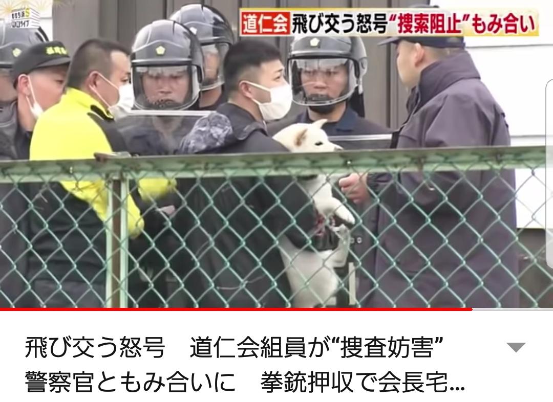 【画像】ヤクザさん、犬を抱っこしたまま警察とケンカしてしまう