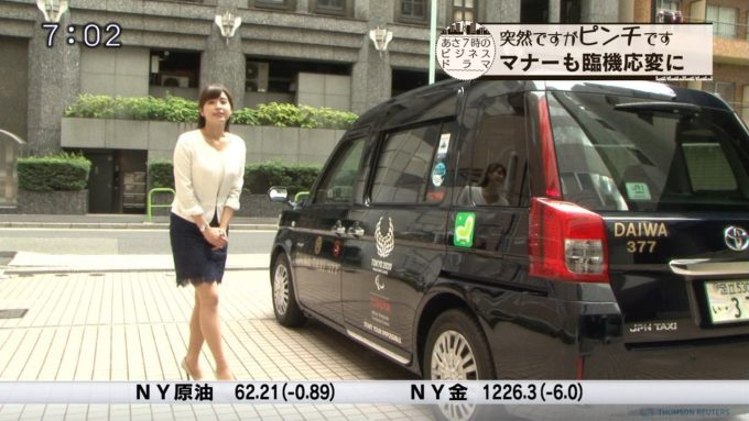 【画像】テレ東の角谷暁子アナの下半身w