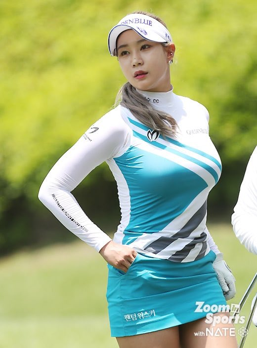 【画像】イ・ボミに次ぐ新おっぱいゴルフクイーン、ユ・ヒョンジュさんの爆乳wwww