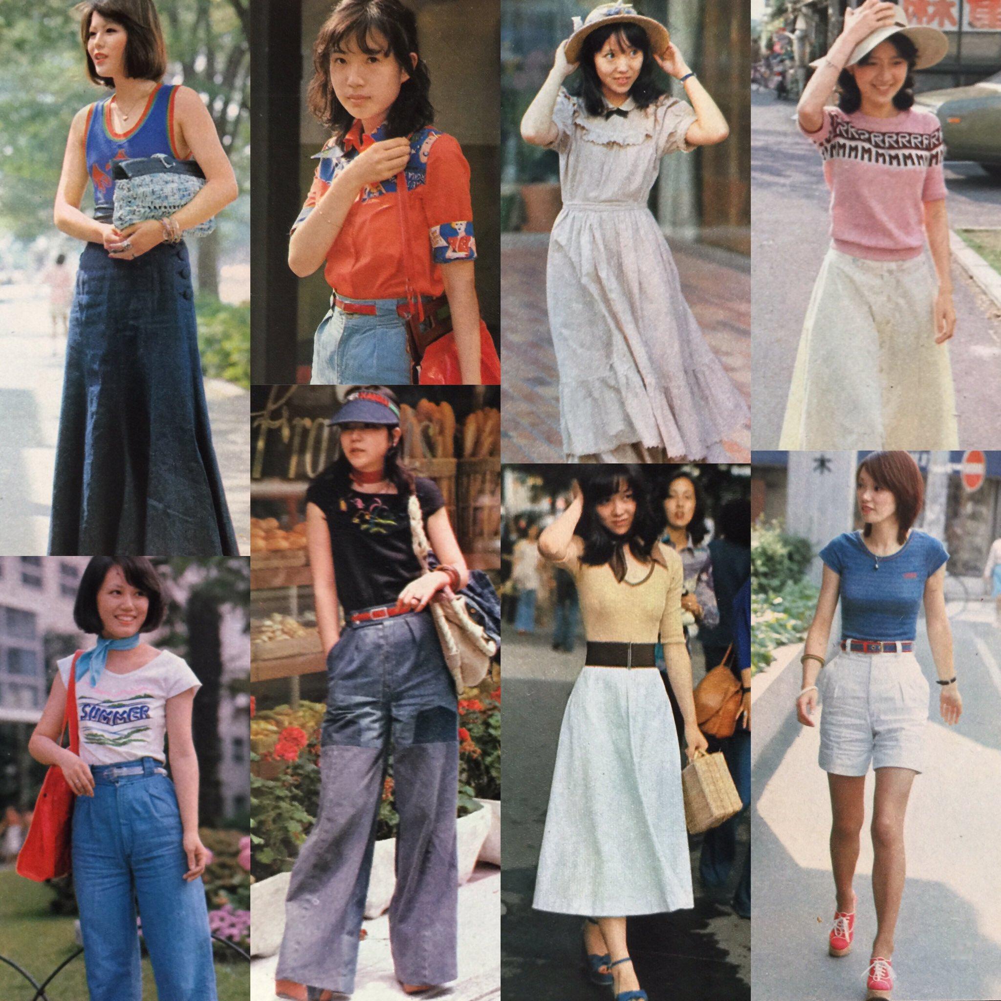 【画像】1970年代の女性の夏のファッションww