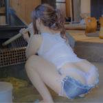 【画像】エチエチ女子、油断してケツ丸出しで風呂を沸かしてしまうw