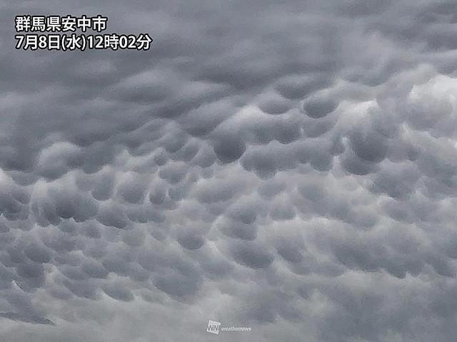 【画像】関東の空に乳房雲発生 ムラムラしたやつは空を見ろ
