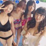 【画像】童貞ほど数字が大きい水着女子を選ぶ不思議な画像がこちらww
