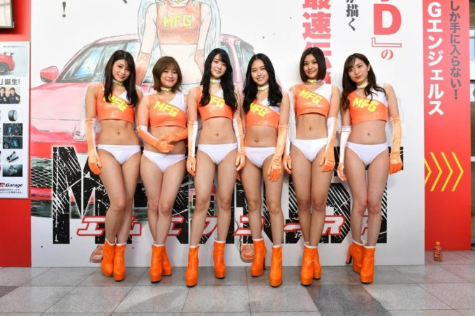 【画像】美人女子6人組、アソコがくっきりしてしまう