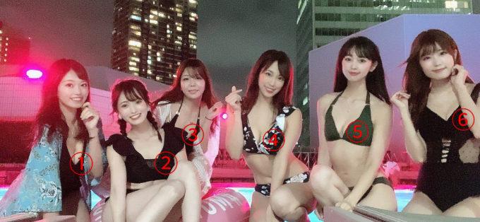 【画像】女子「ナイトプール最高~!」パシャッ→エッチすぎてバズるw