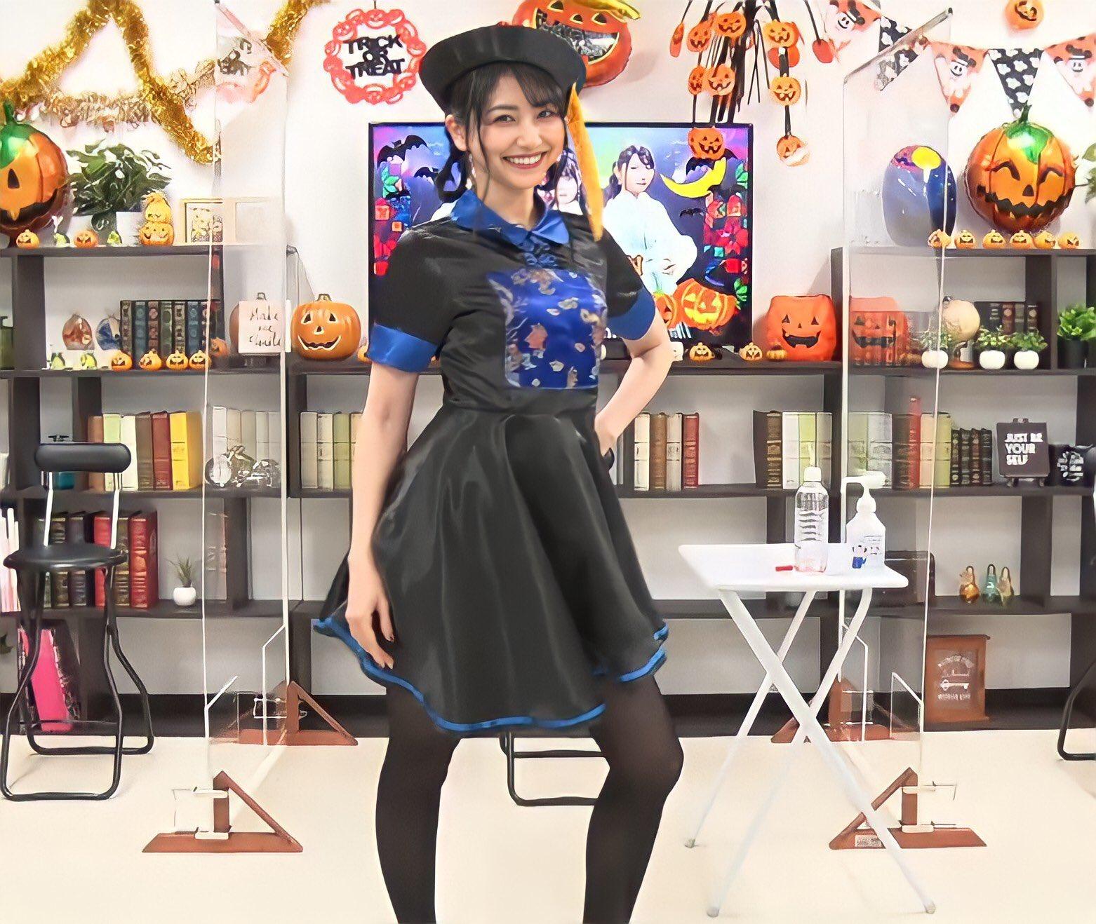 【画像】超美人声優の雨宮天さん、ハロウィンコスで自慢の胸を盛大に盛ってしまう……