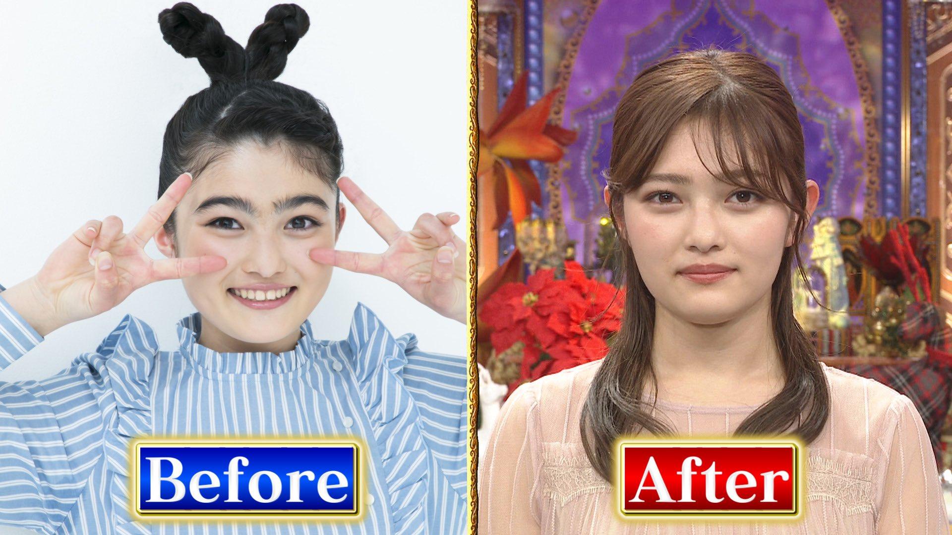 【画像】激太眉だった井上咲楽さん、細眉毛にしたとたん超可愛くなってて草