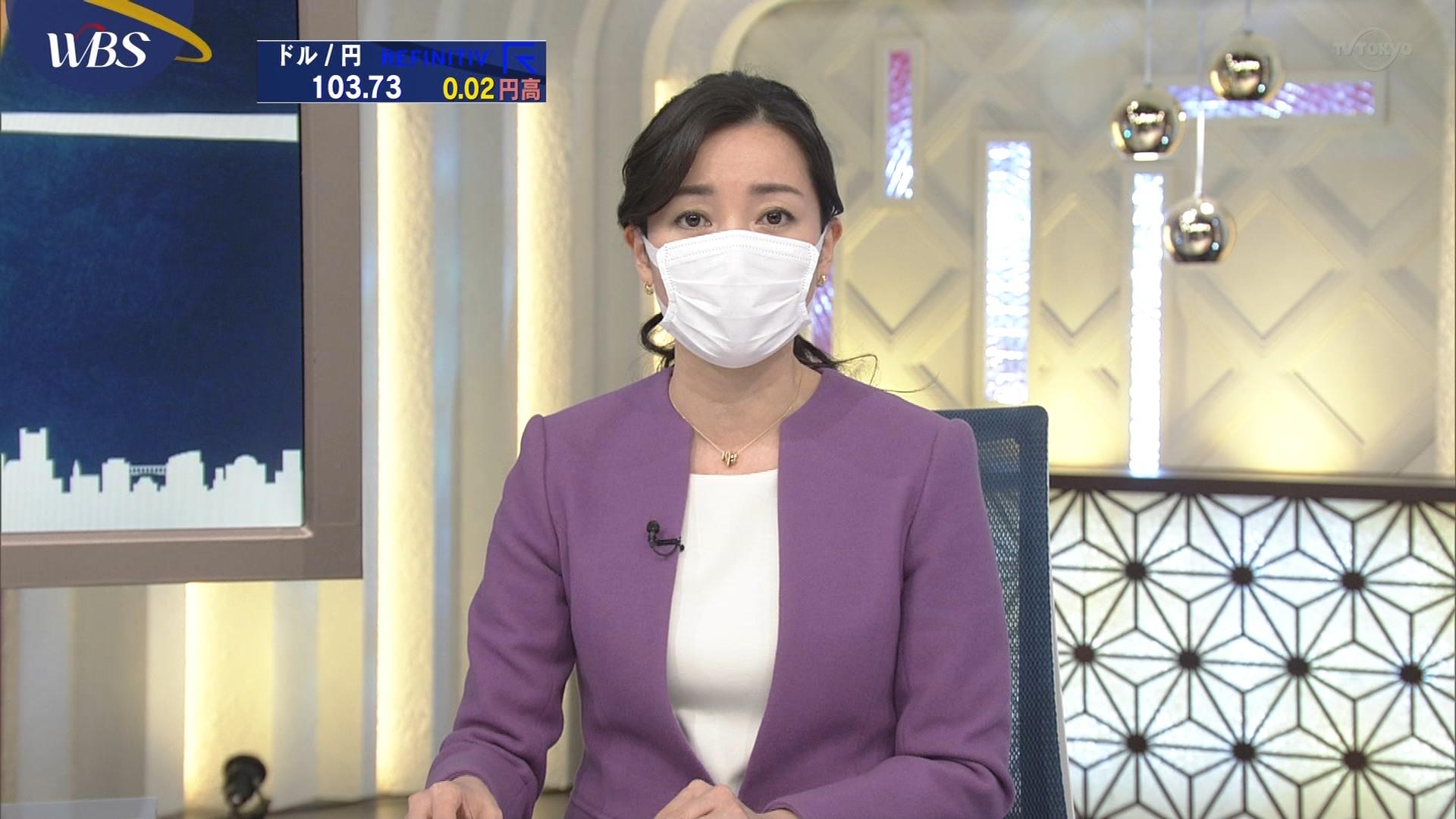 【朗報】テレ東・大江麻理子キャスターらマスク着用 「緊急事態宣言受け決断」