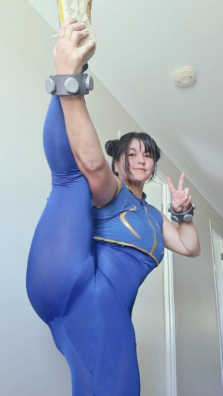 【画像】白人美女、春麗はアジア人には無理な体型であることを証明してしまう