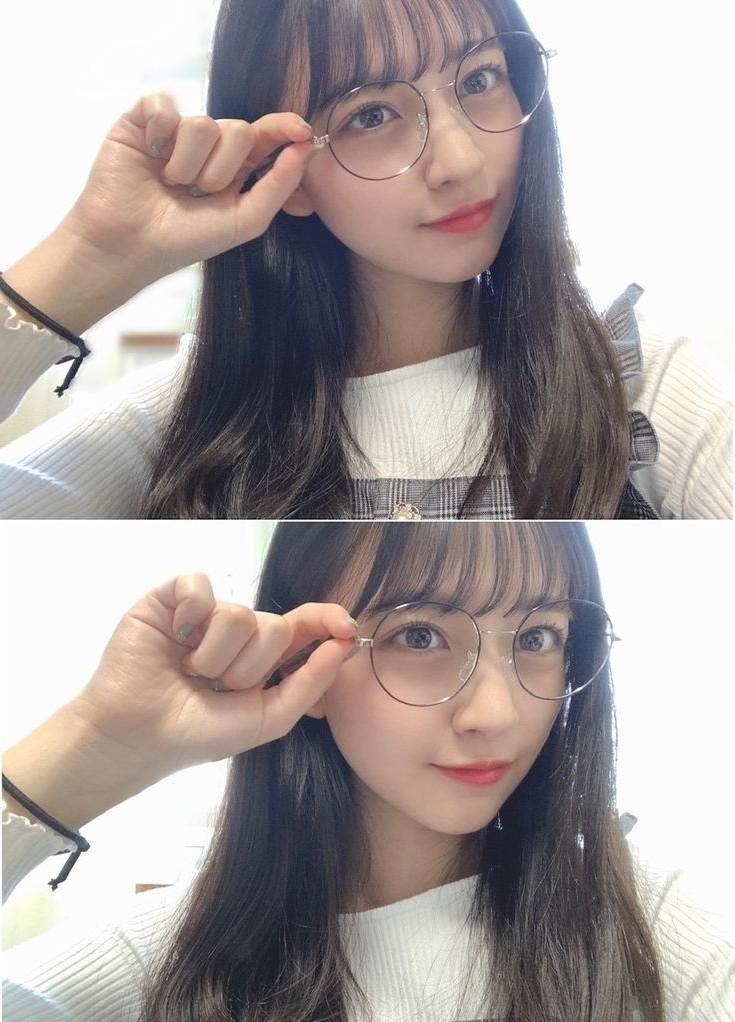 【画像】最近、こういうメガネつけてる女の子多すぎだろwwwww